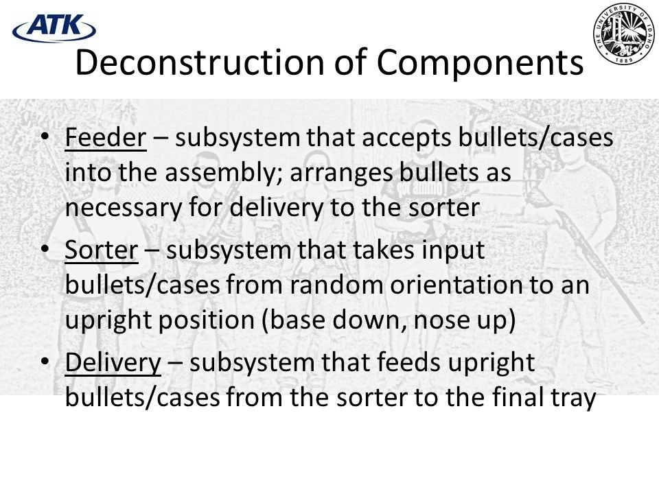 Deconstruction of Components