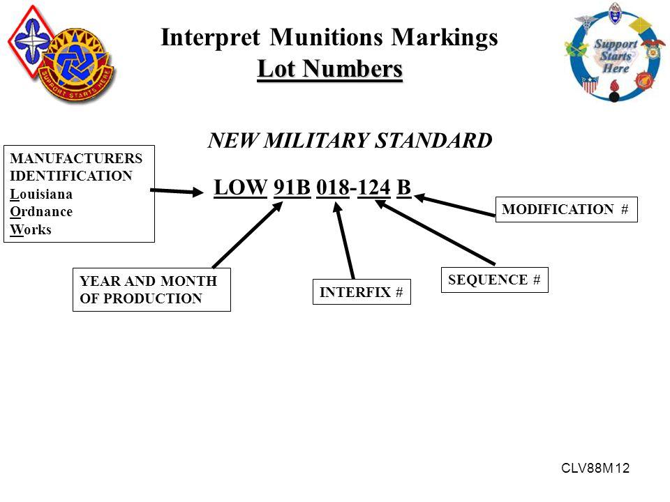 Interpret Munitions Markings Lot Numbers