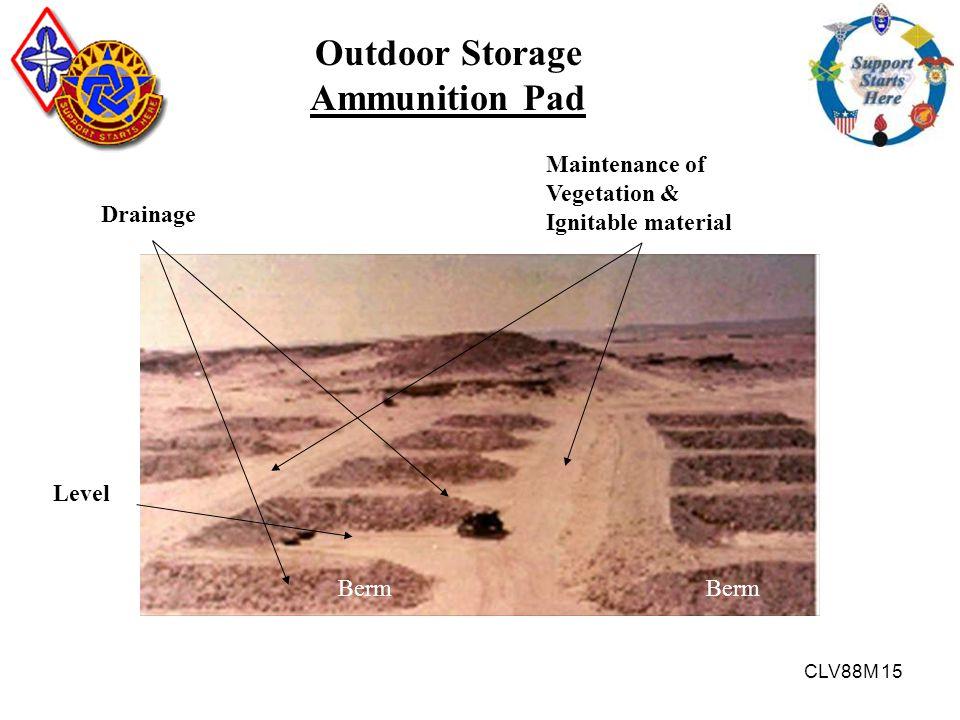 Outdoor Storage Ammunition Pad