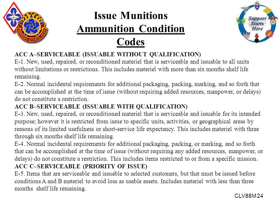 Ammunition Condition Codes