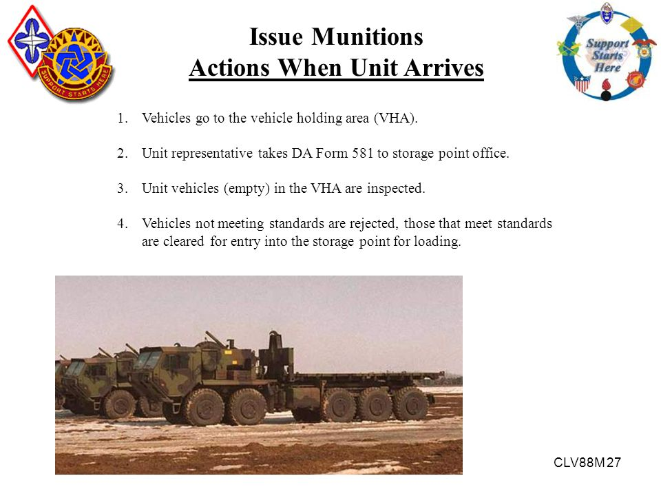 Actions When Unit Arrives