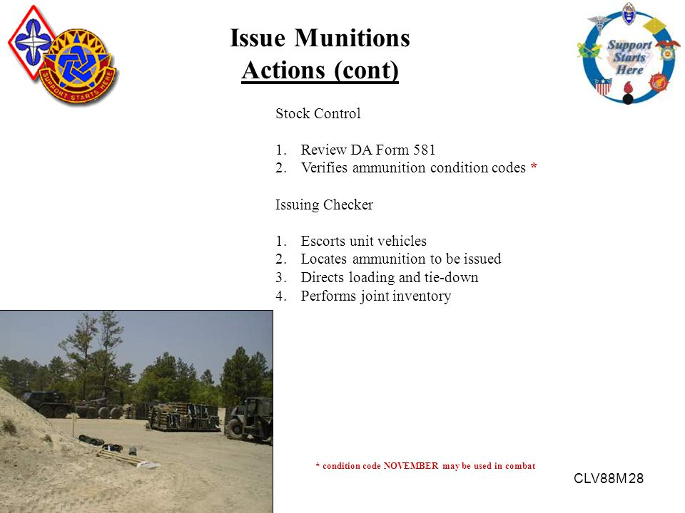 Issue Munitions Actions (cont)