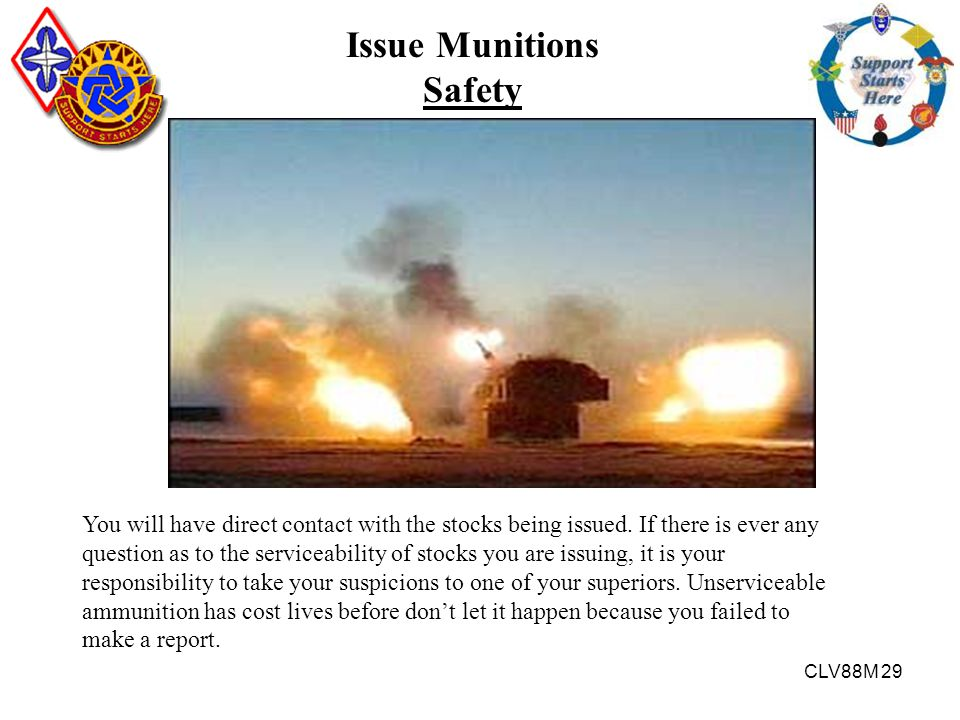 Issue Munitions Safety