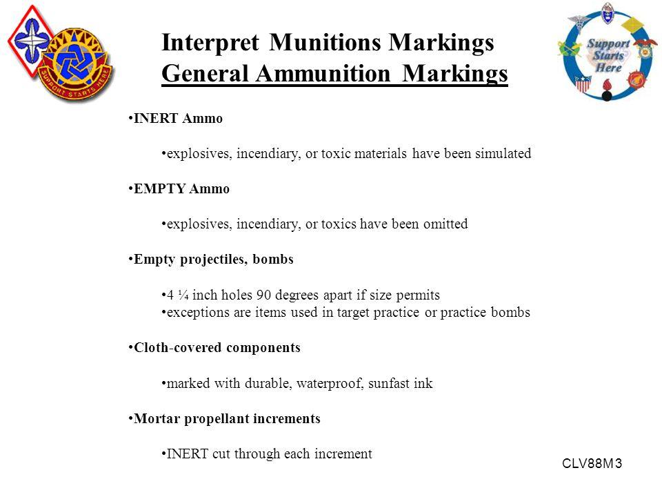 Interpret Munitions Markings General Ammunition Markings
