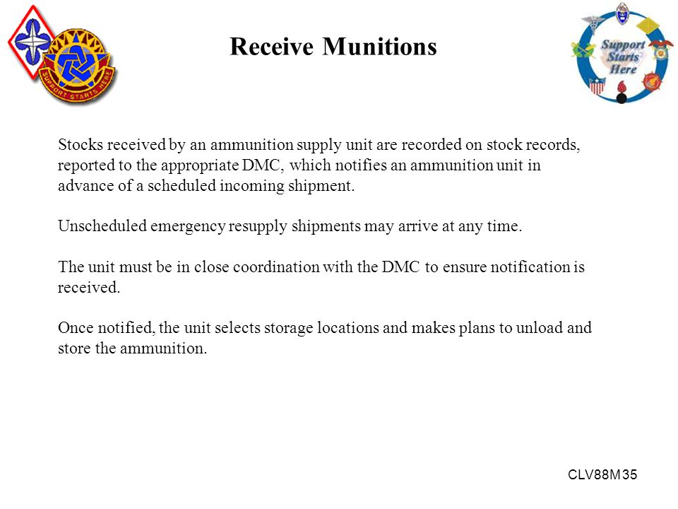 Receive Munitions
