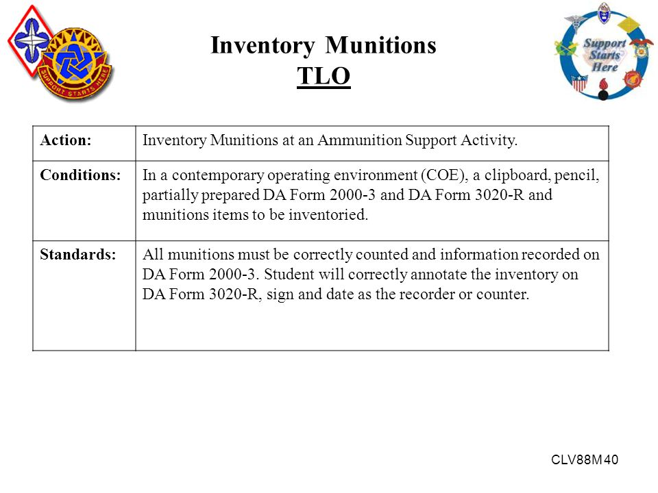 Inventory Munitions TLO