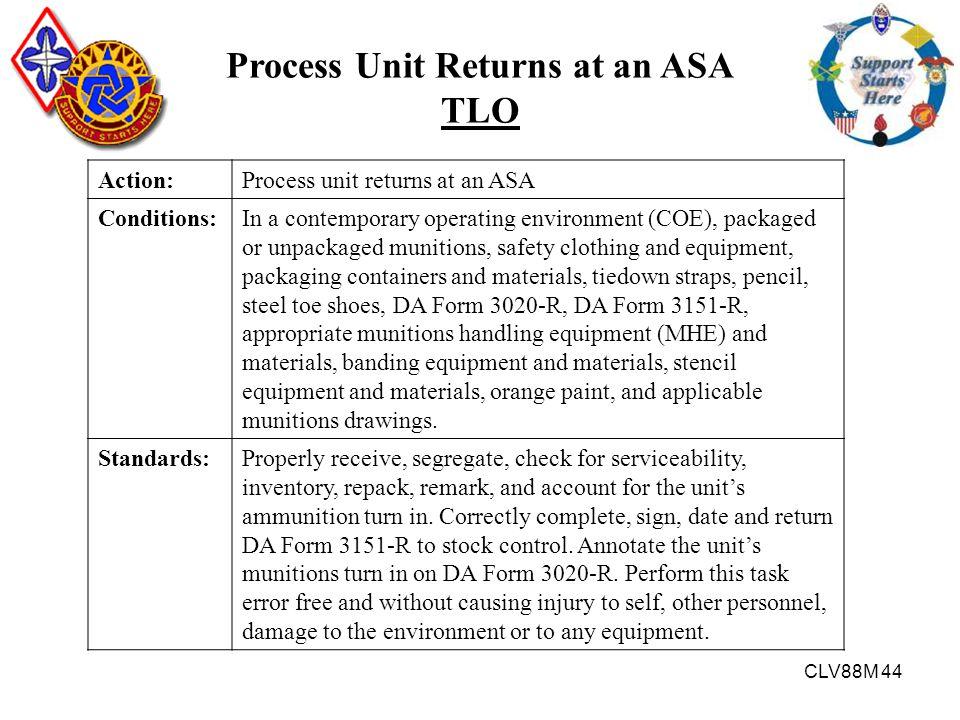 Process Unit Returns at an ASA