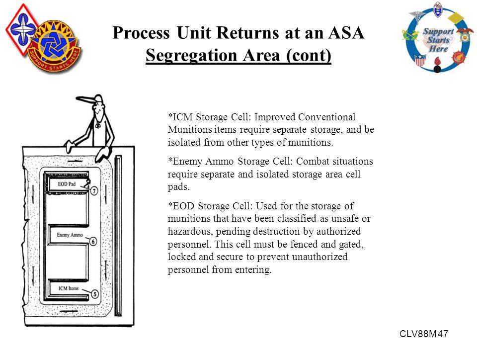 Process Unit Returns at an ASA Segregation Area (cont)