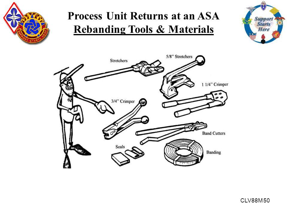 Process Unit Returns at an ASA Rebanding Tools & Materials