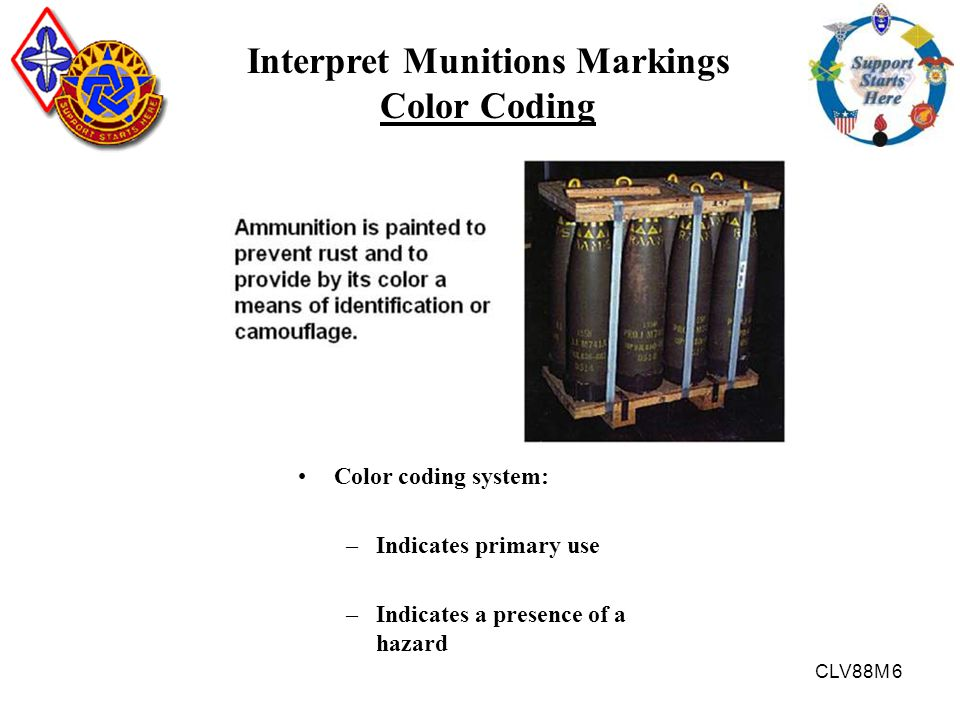 Interpret Munitions Markings Color Coding
