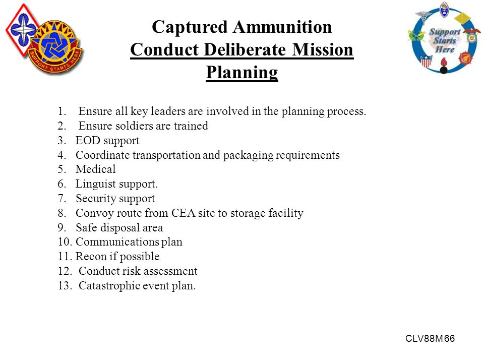 Conduct Deliberate Mission Planning