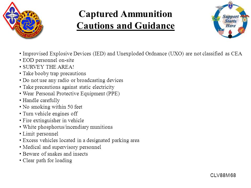 Captured Ammunition Cautions and Guidance