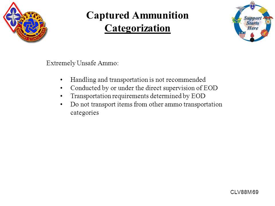 Captured Ammunition Categorization