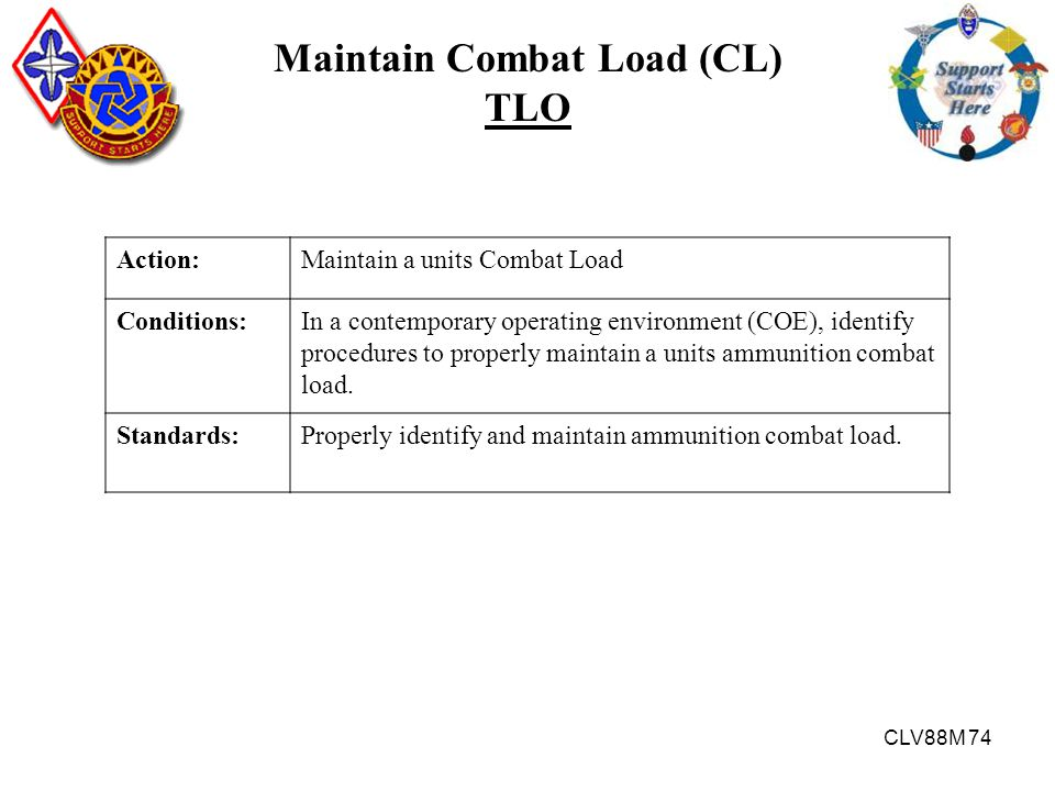Maintain Combat Load (CL)
