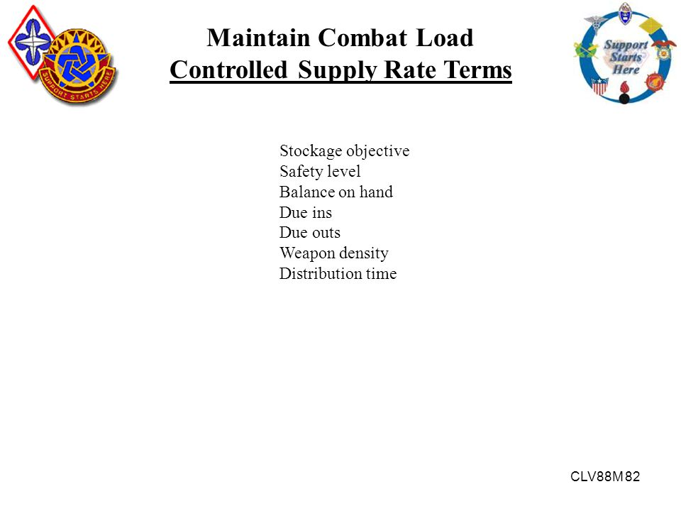 Controlled Supply Rate Terms