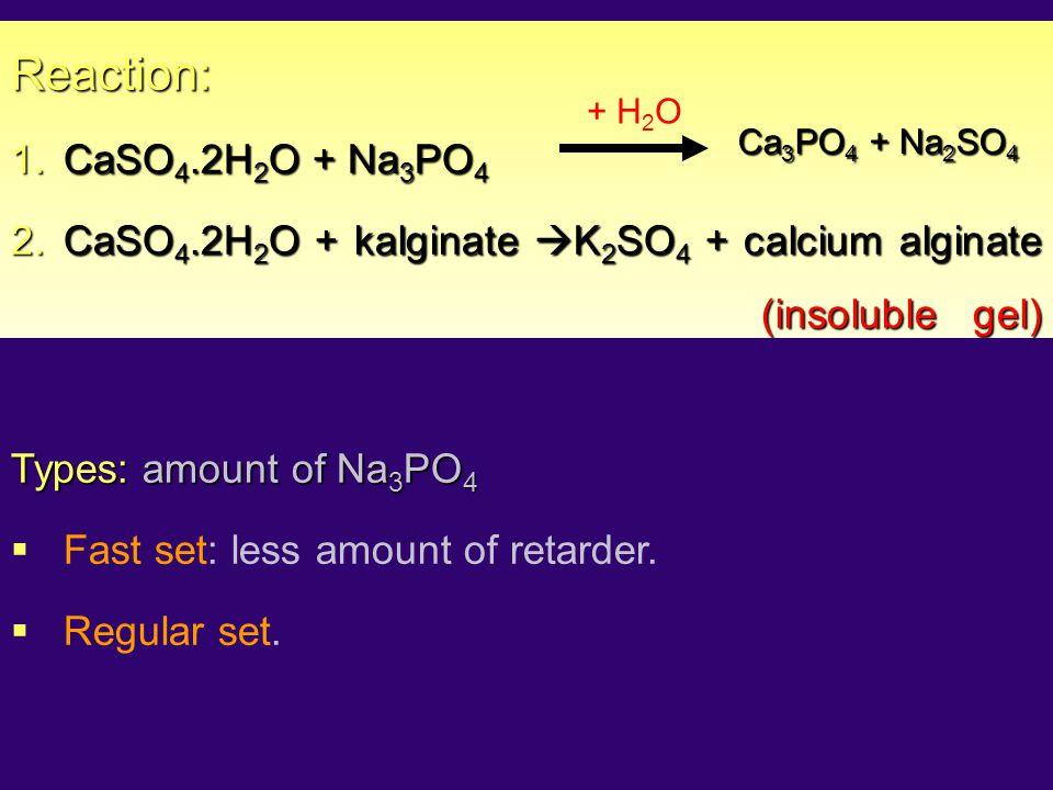 Reaction: CaSO4.2H2O + Na3PO4