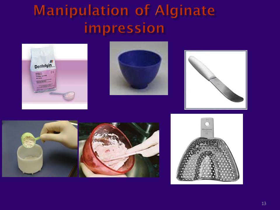 Manipulation of Alginate impression
