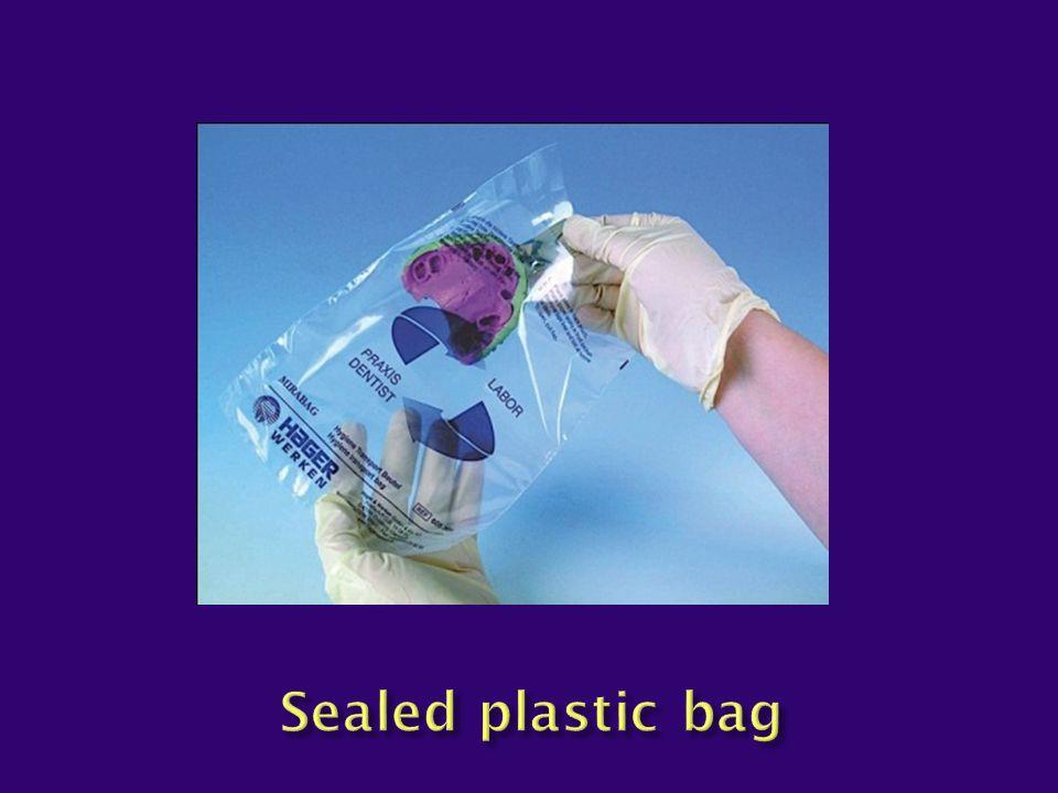 Sealed plastic bag