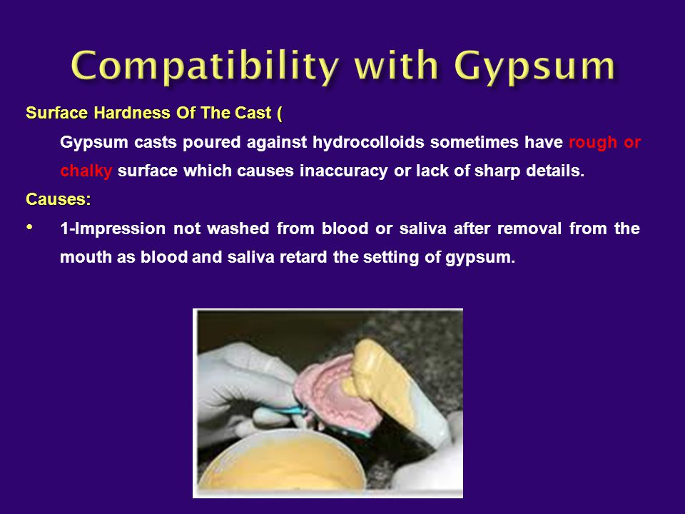 Compatibility with Gypsum