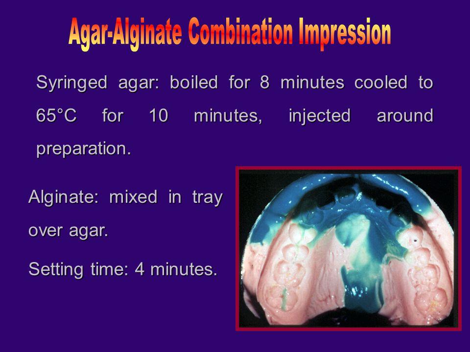 Agar-Alginate Combination Impression