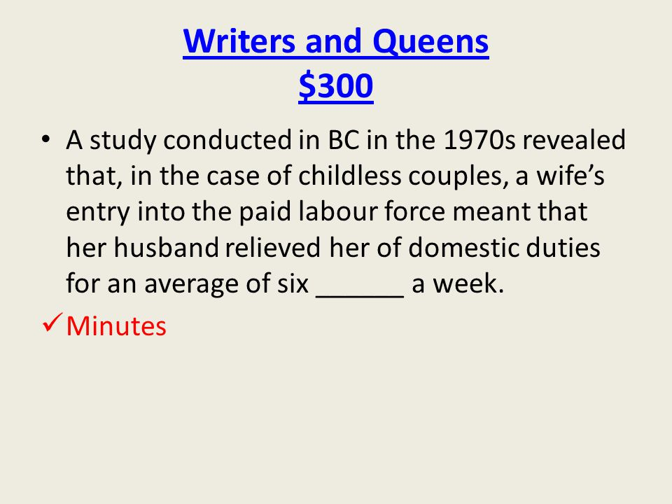 Writers and Queens $300