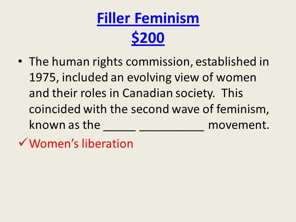 Filler Feminism $200