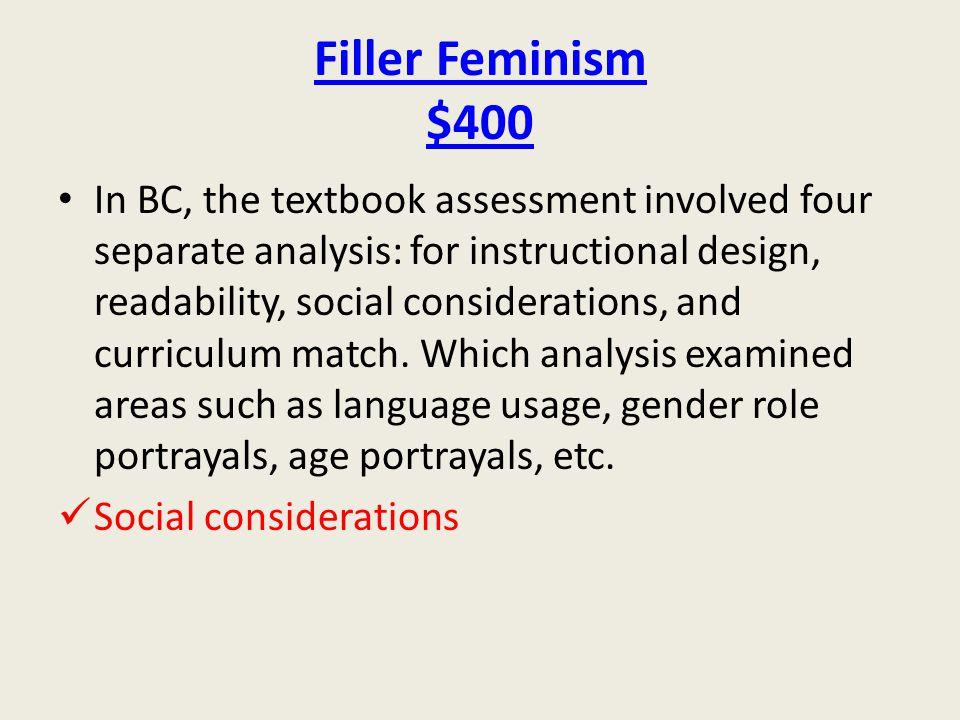 Filler Feminism $400