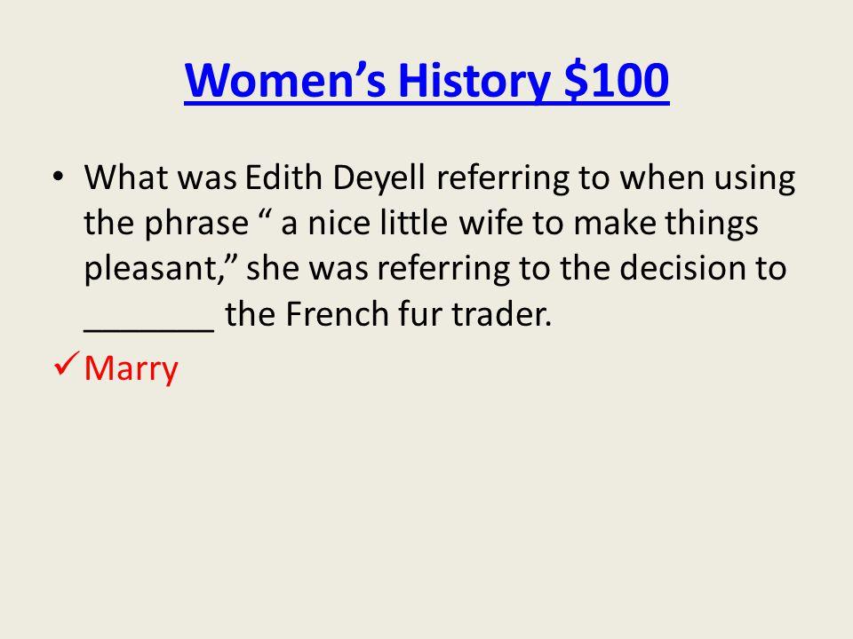 Women's History $100