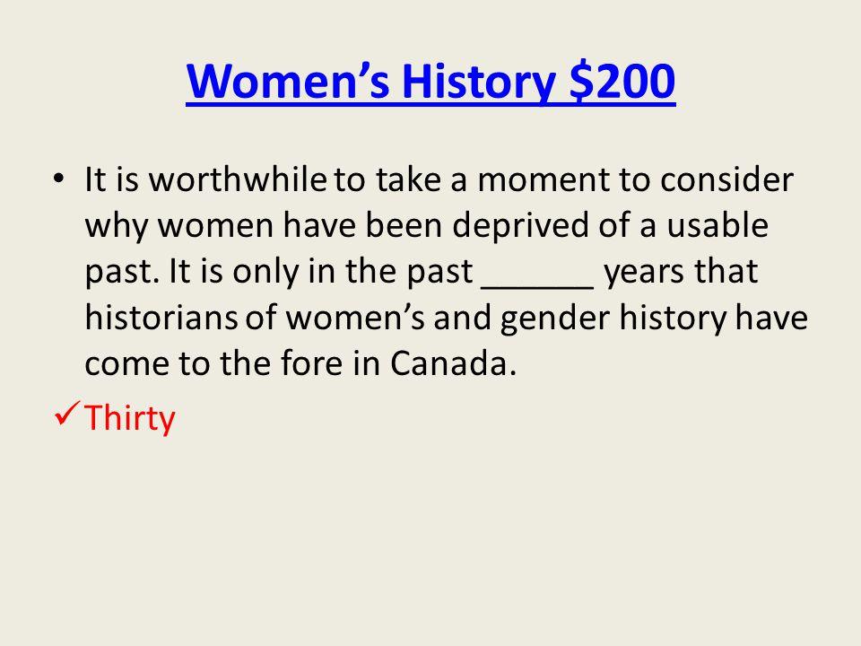 Women's History $200