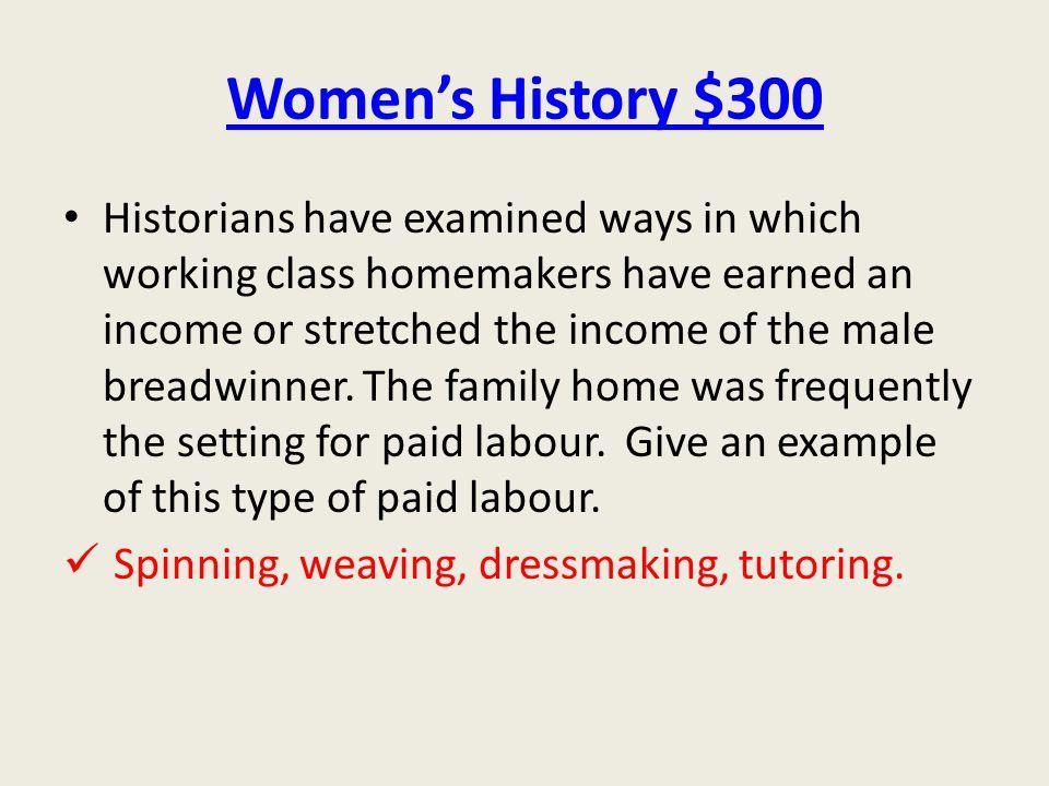 Women's History $300