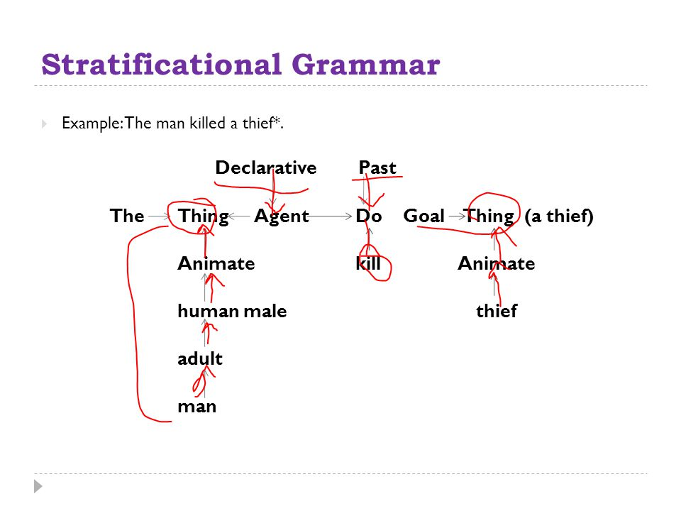 Stratificational Grammar