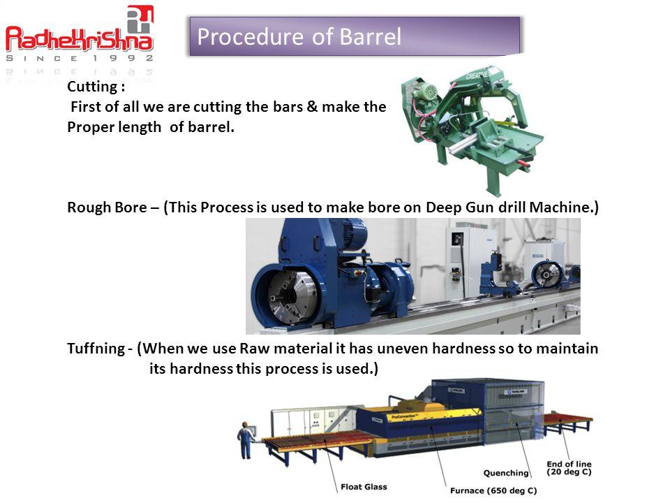 Procedure of Barrel Cutting :