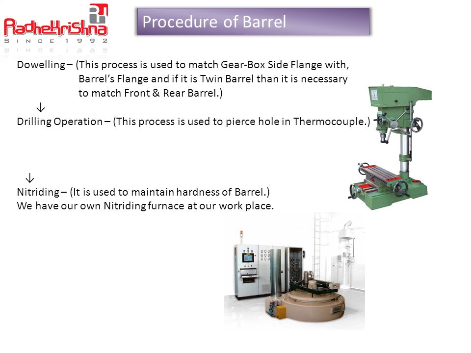 Procedure of Barrel Dowelling – (This process is used to match Gear-Box Side Flange with,