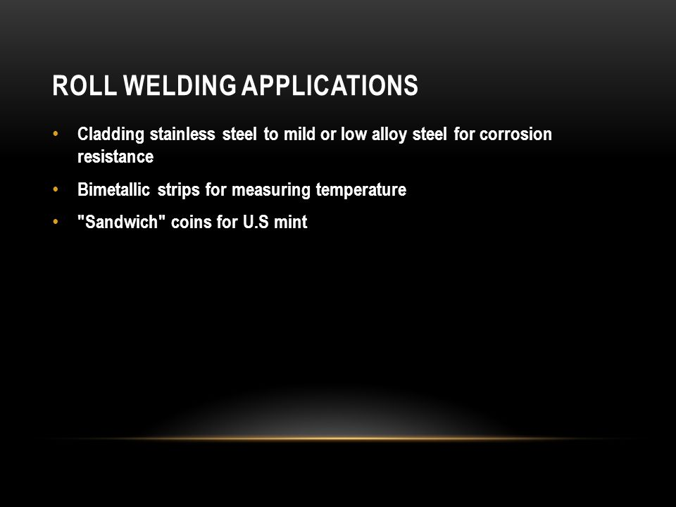 Roll Welding Applications