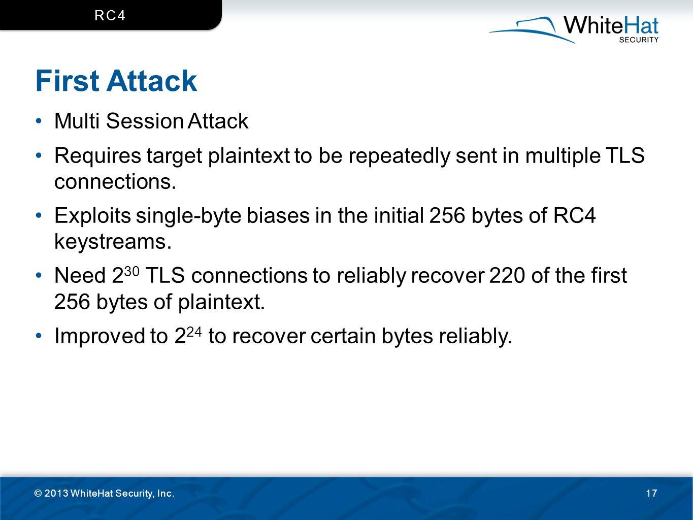 First Attack Multi Session Attack
