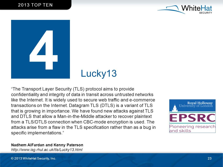 2013 top ten 4. Lucky13.