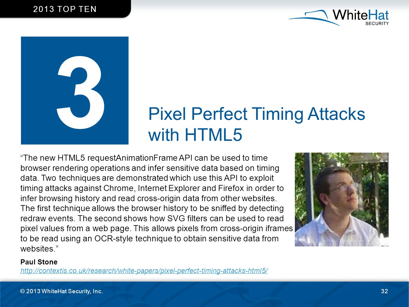 3 Pixel Perfect Timing Attacks with HTML5