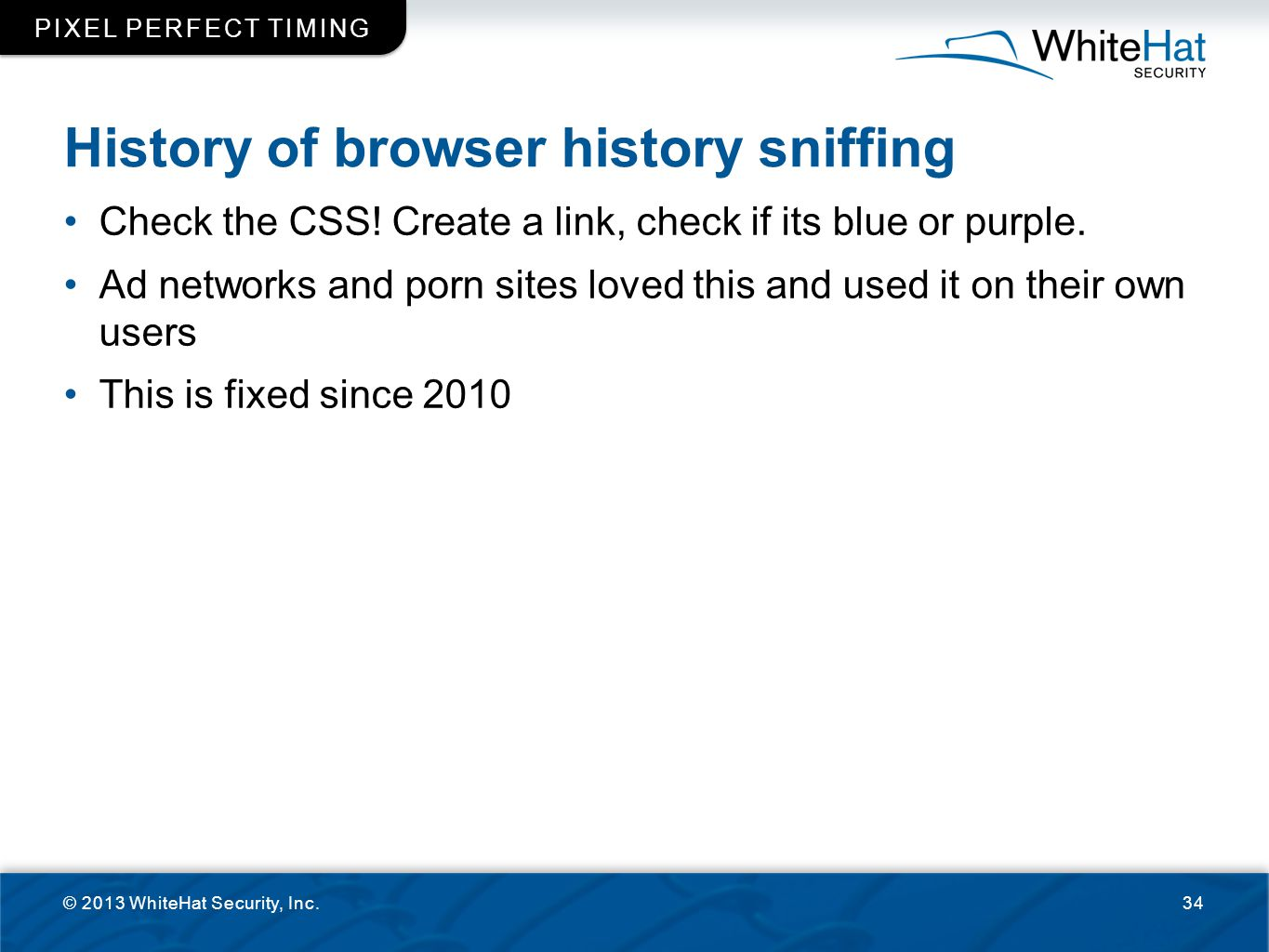 History of browser history sniffing