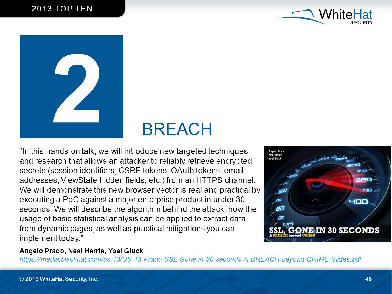2013 top ten 2. BREACH.