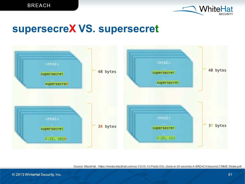 supersecreX VS. supersecret