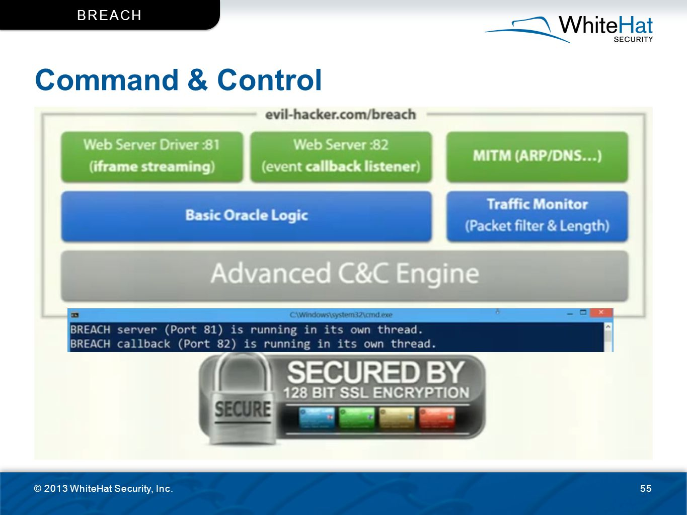 BReACH Command & Control © 2013 WhiteHat Security, Inc.