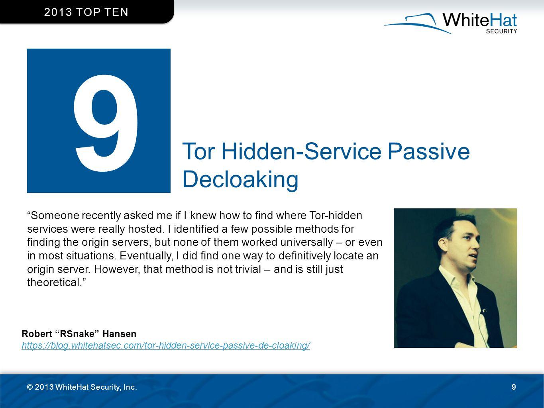 9 Tor Hidden-Service Passive Decloaking