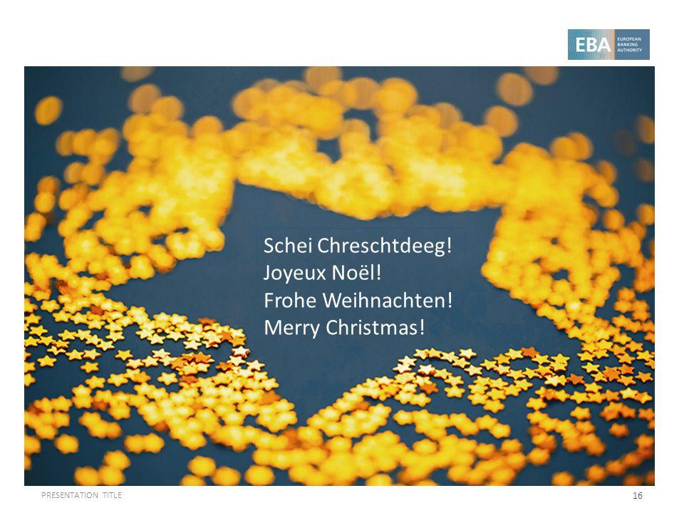 Schei Chreschtdeeg! Joyeux Noël! Frohe Weihnachten! Merry Christmas!