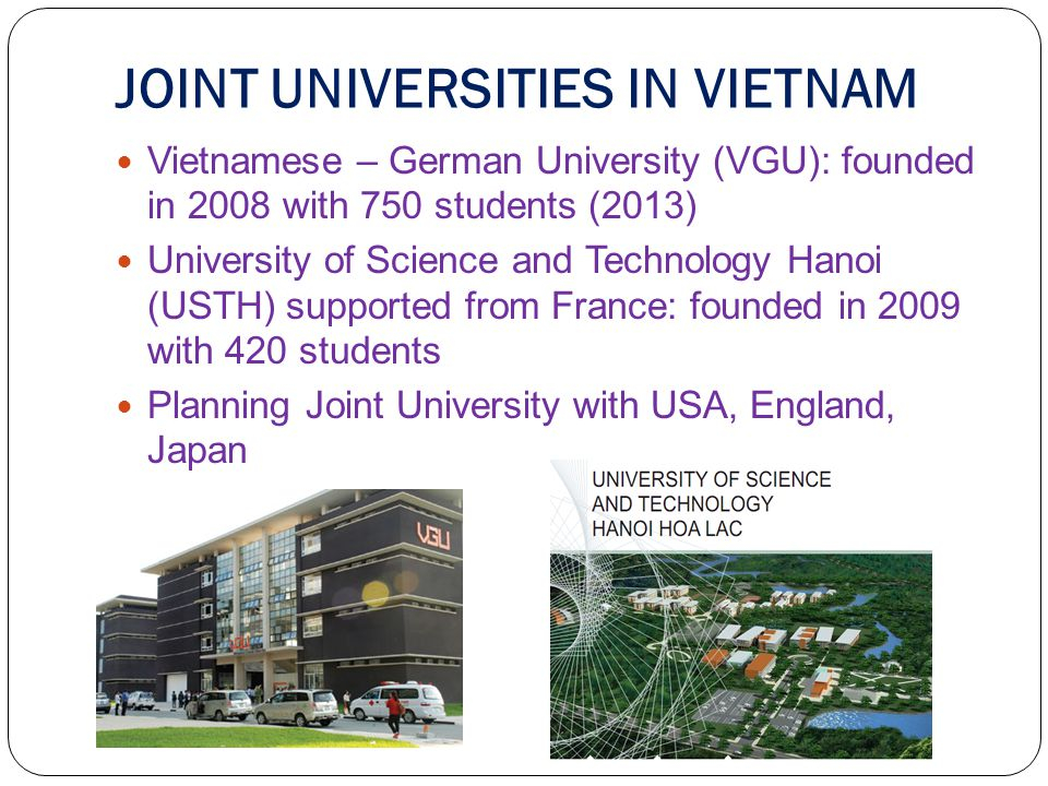 JOINT UNIVERSITIES IN VIETNAM