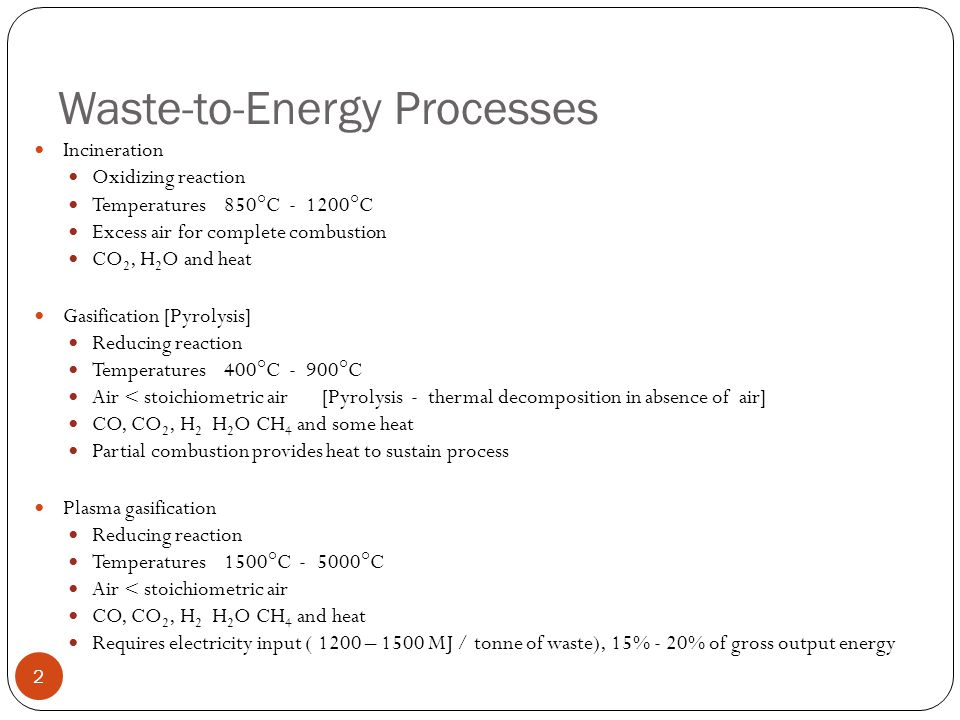 Waste-to-Energy Processes