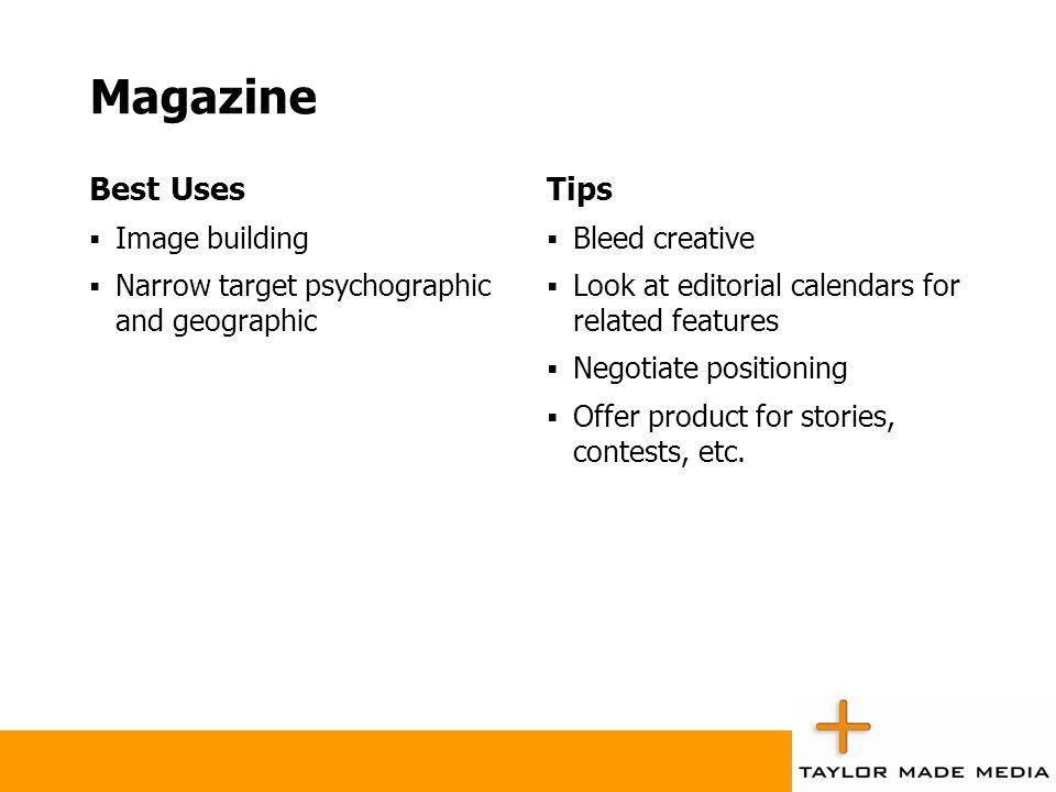 Magazine Best Uses Tips Image building