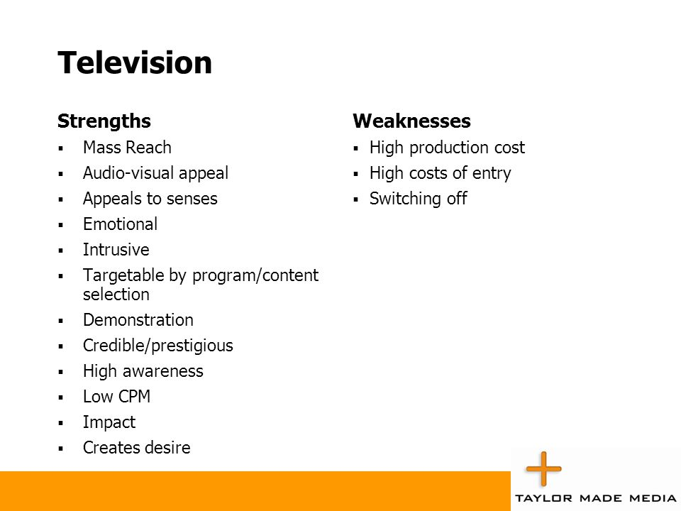 Strengths and Weaknesses of Each Medium ppt video online download