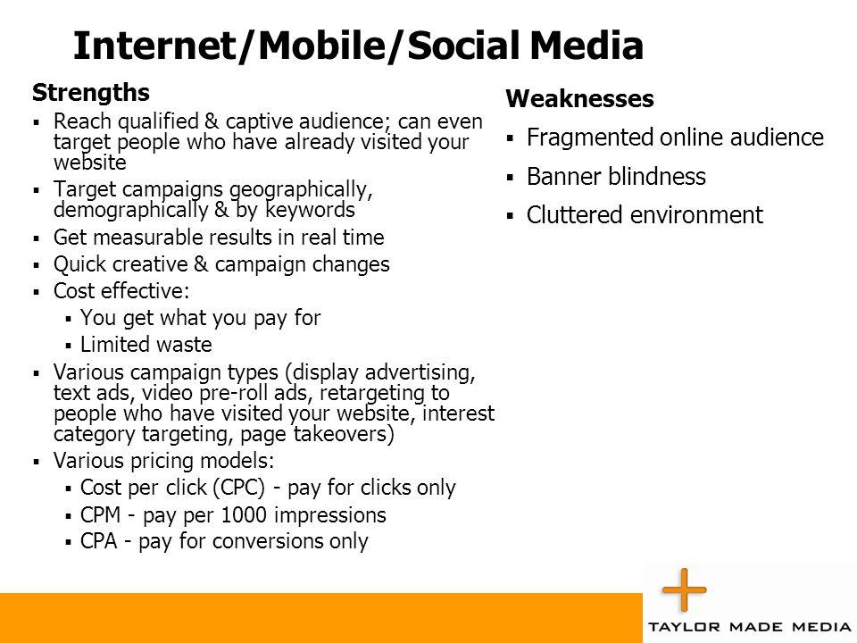 Internet/Mobile/Social Media