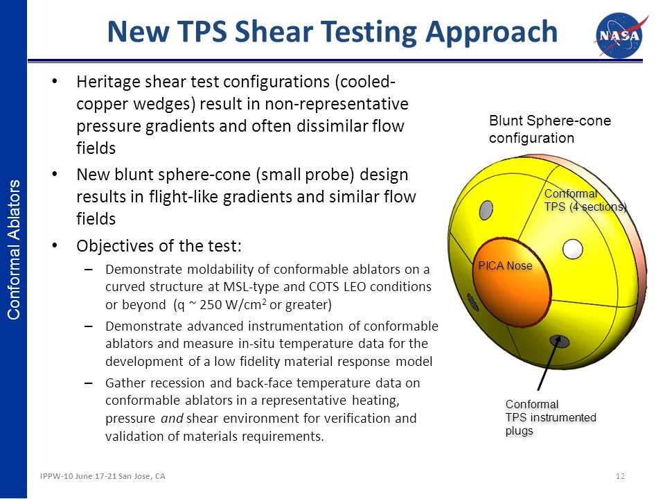 New TPS Shear Testing Approach
