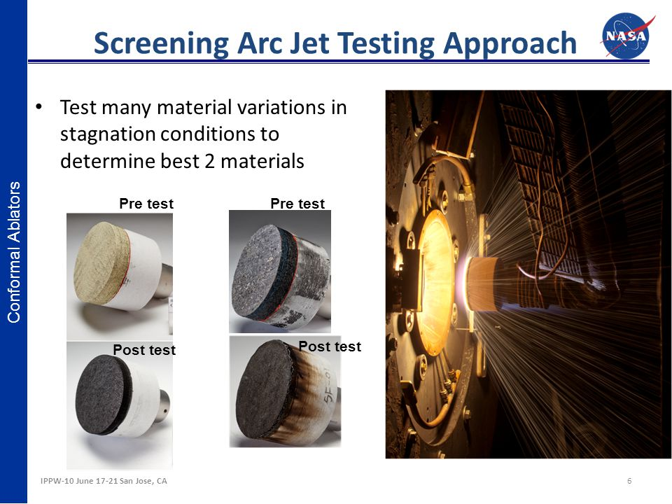 Screening Arc Jet Testing Approach